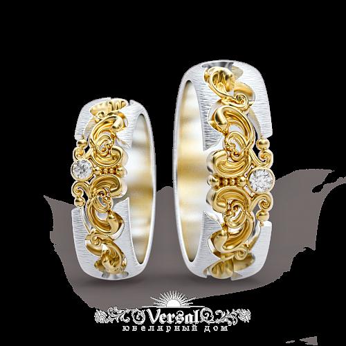 d1386c8b9745 Эксклюзивные Обручальные кольца VGOK0075 на заказ в Москве в ...
